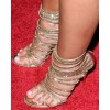 Gold Evening Shoes Rhinestone Stiletto Heel Strappy Sandals for Party thumb 2