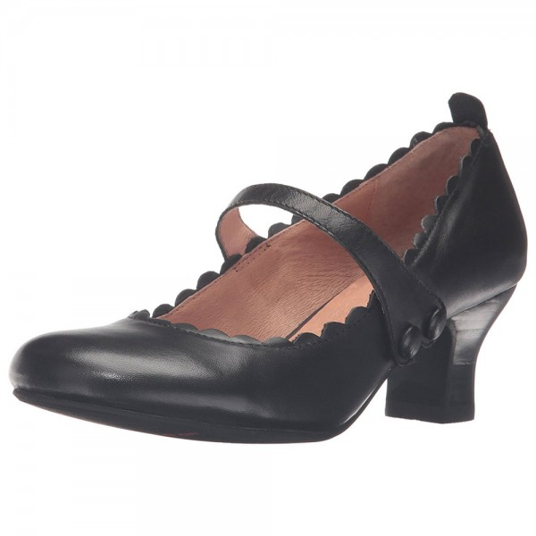 Black Wave Mary Jane Escarpins bout rond Chaussures à talons chunky image 3