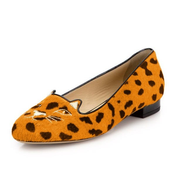 Leopard Print Flats Suede Cute Chaussures confortables image 1