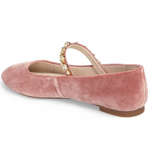 Rhinetones Rose Chaussures Mary Jane Flats confortables image 3