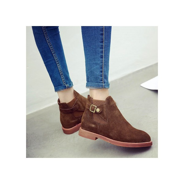 Tan Chaussures Vintage Bottines Chaussures scolaires confortables image 3