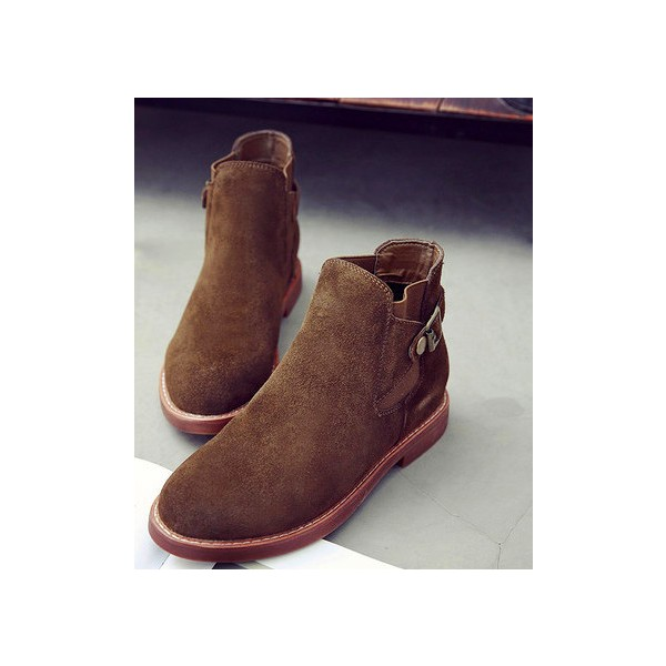 Tan Chaussures Vintage Bottines Chaussures scolaires confortables image 2