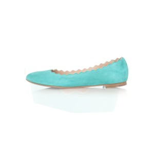 Femmes adorable Cyan Toe Rond Confortable Flats