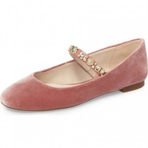 Rhinetones Rose Chaussures Mary Jane Flats confortables