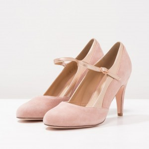 Rose Mary Jane Chaussures Escarpins à bout rond pour Office Lady
