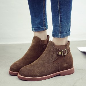 Tan Chaussures Vintage Bottines Chaussures scolaires confortables