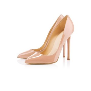 Nude Classic Pointy Toe Stiletto Talons Pumps Bureau Talons Pumps
