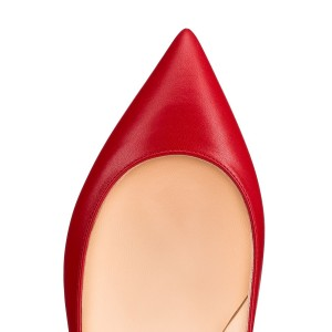 En vente Red Flat Toe Flats confortables