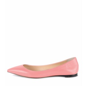 Peach Pink Toe Toe Flats confortables