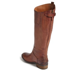 Tan Riding Boots Flat Vegan Leather Vintage Knee Boots US Size 3-15