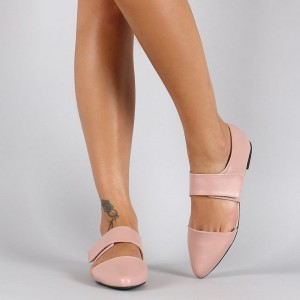 Pink Mary Jane Shoes Chaussures confortables à bouts pointus