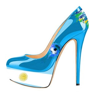 Argentine Football Lover Design Stiletto Talons Plateforme Talons Escarpins
