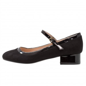 Escarpins noirs à bout rond - Escarpins Mary Jane Pumps