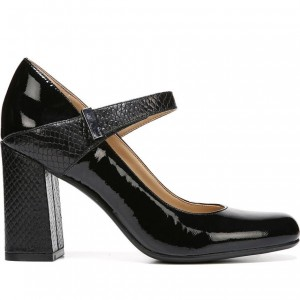 Mary Jane Pumps - Sangle - Chaussures à talons en cuir verni