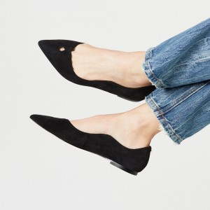 Suede Black Curvy Hole - Chaussures confortables