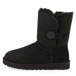 Black Suede Flat Winter Boots
