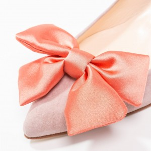 Blush Chunky Talons Talons Pointus Toe Office avec Bow