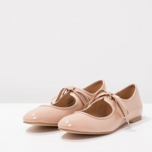 Ballerines en cuir verni blush Mary Jane Shoes Ballerines à lacets