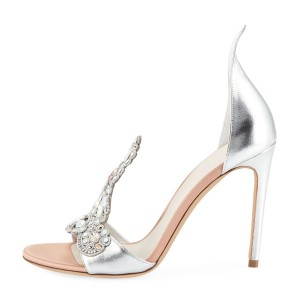 Rose Gold Shoes Sandals Plateforme T Strap Sandales de soirée