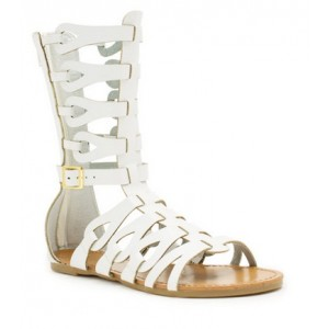 Women's Lillian White Flat Gladiator Sandals