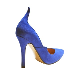Royal Blue Heels Suede Pointy Toe 3 Inch Stiletto Heels for Ladies