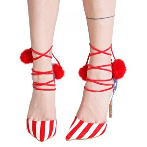 Stars and Stripes Pom Pom Talons - Escarpins à bouts fermés