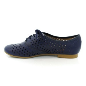 Marine Vegan Shoes évider bout rond Vintage Flats US Taille 3-15